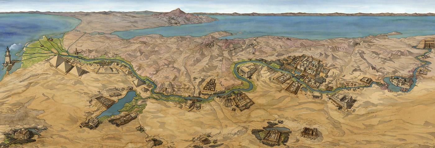 Karte ägypten Nil.ägypten Nil Karte Aus Dem Westen Jean Claude Golvin