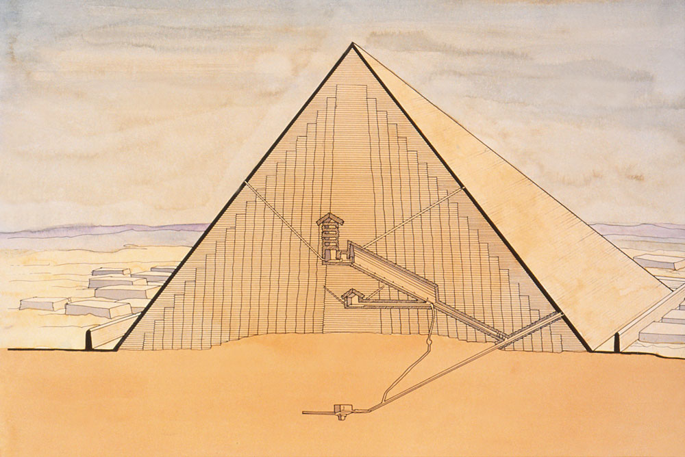 plan pyramide khéops