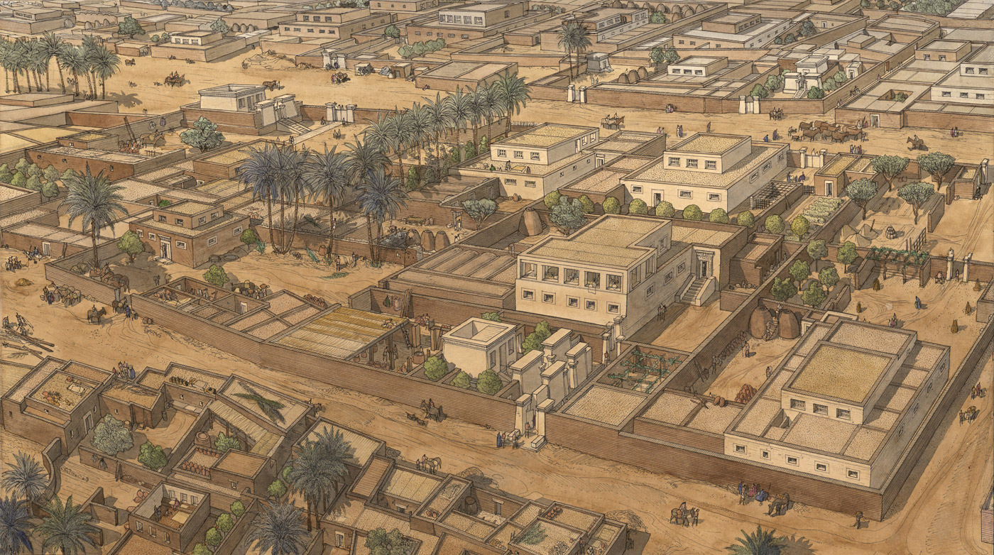 Nefertiti and her husband built their own city