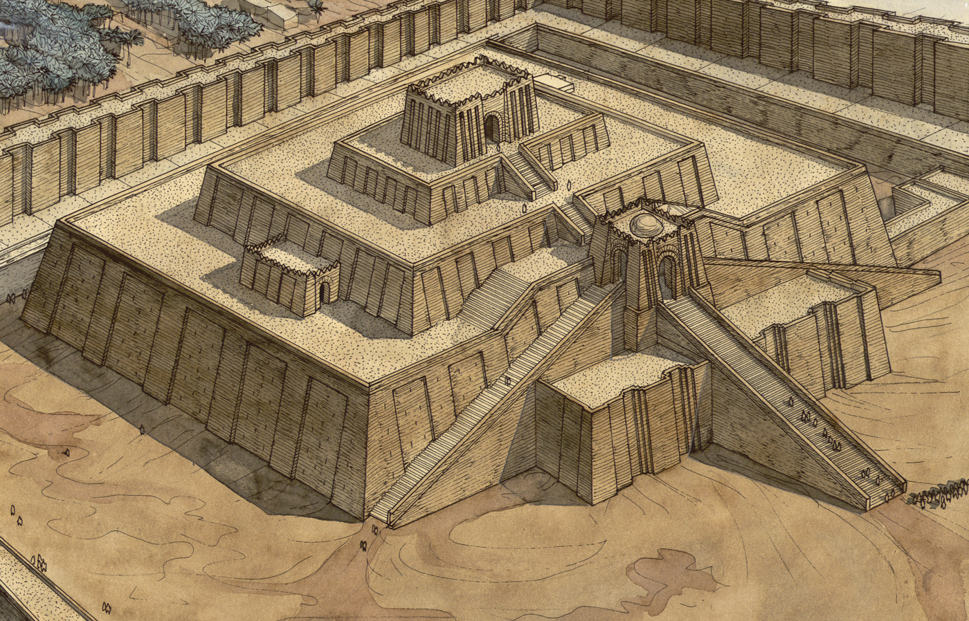 ziggurat essay At the end of the fourth millennium bc, enormous mud-brick platforms had been built at a number of sites in mesopotamia it is presumed that they originally supported important buildings.