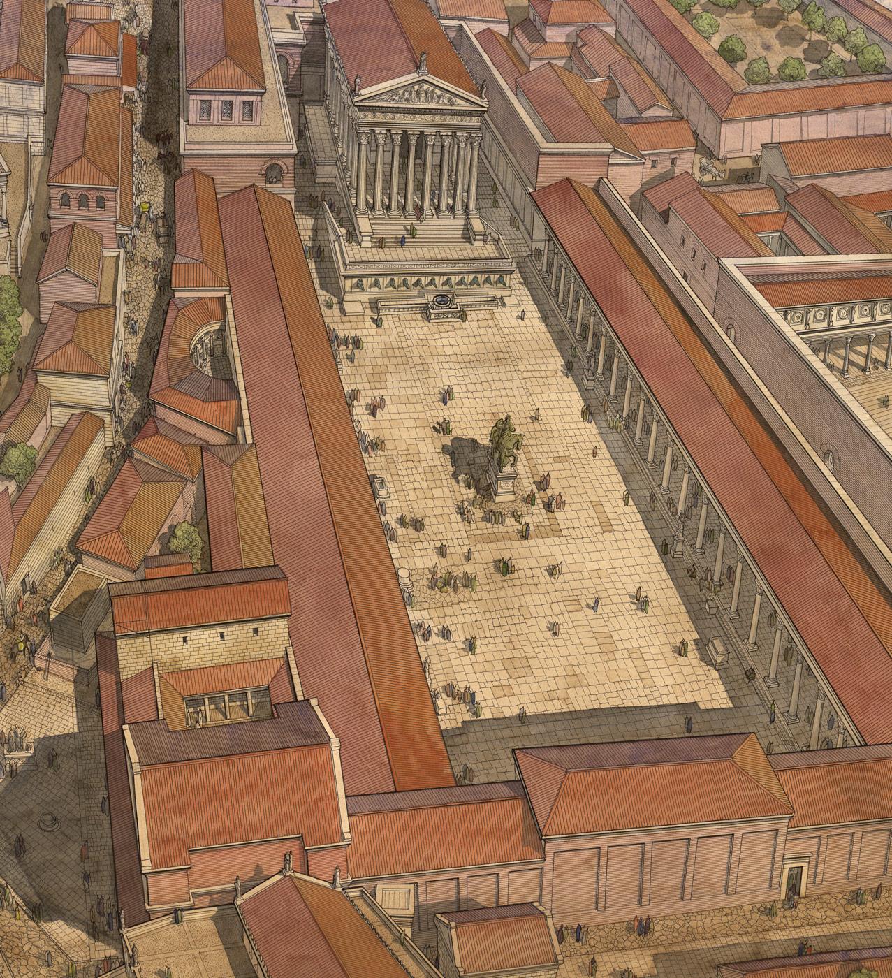 26a53017cfdb12 Italie - Roma (Rome) - République sous César - Forum - Jean-Claude ...