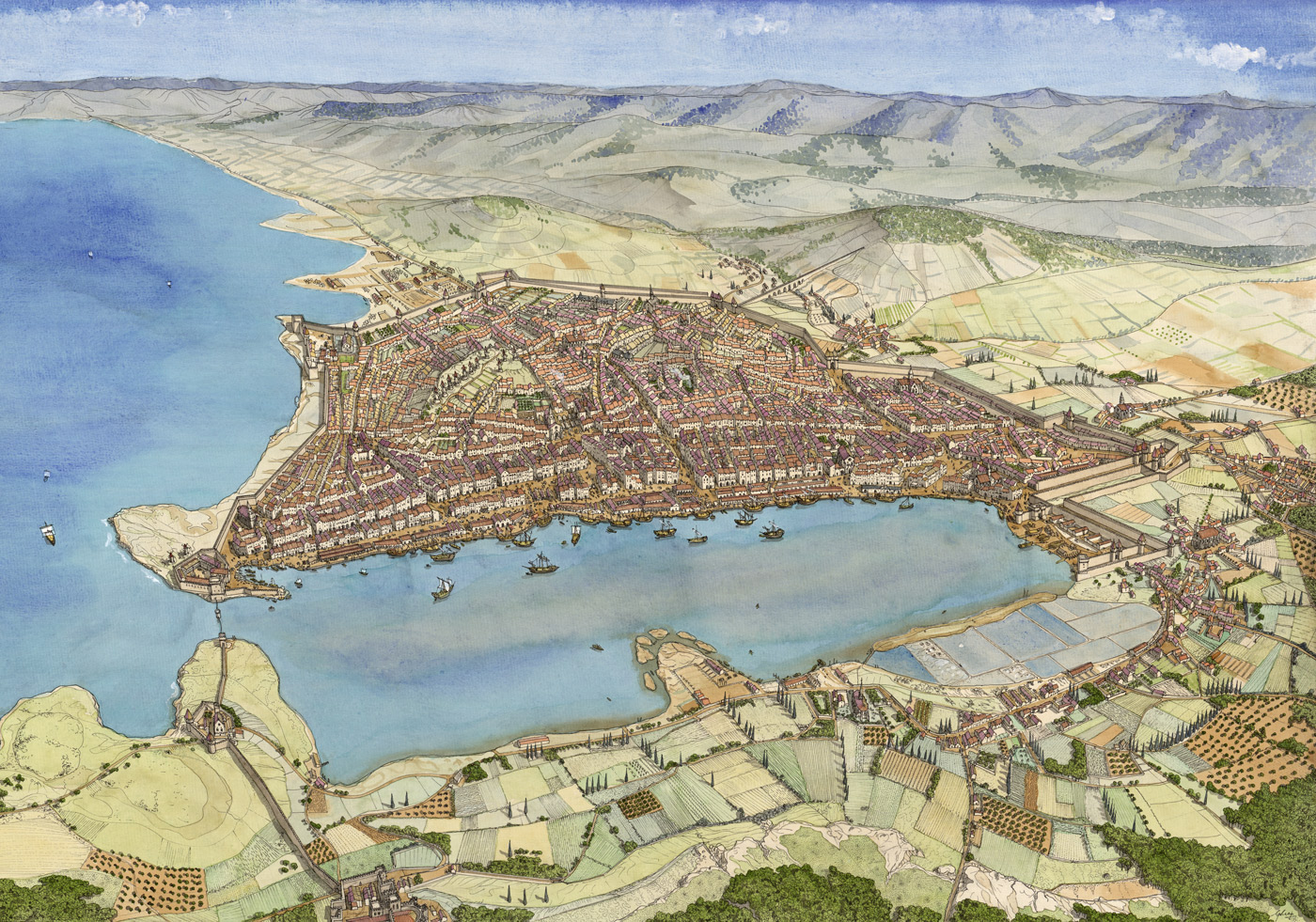 France - Marseille in the fifteenth century - Jean-Claude Golvin